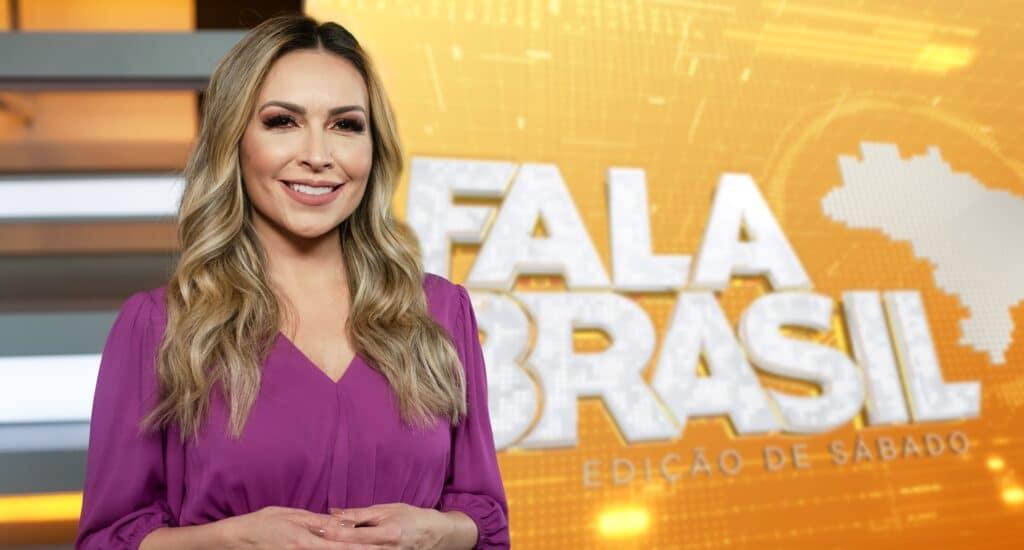 Thalita Oliveira foi tirada definitivamente da apresentação do Fala Brasil (foto: Antonio Chahestian/Record)