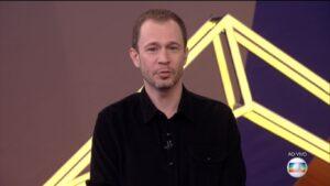Tiago Leifert no estúdio do BBB 21: mobilização recorde nas redes sociais (foto: Reprodução/TV Globo)