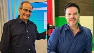 Carlos Abranches e Vinicius Valverde foram contratados da TV Vanguarda, afiliada da Globo sediada em São José dos Campos (foto: Band/Divulgação)