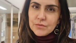 Carla Cecato comparou sua demissão com a saída do Faustão da Globo (foto: Reprodução)