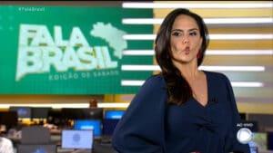 Carla Cecato revelou aos seguidores que ganhou peso após ser demitida da Record (foto: Reprodução/Record)
