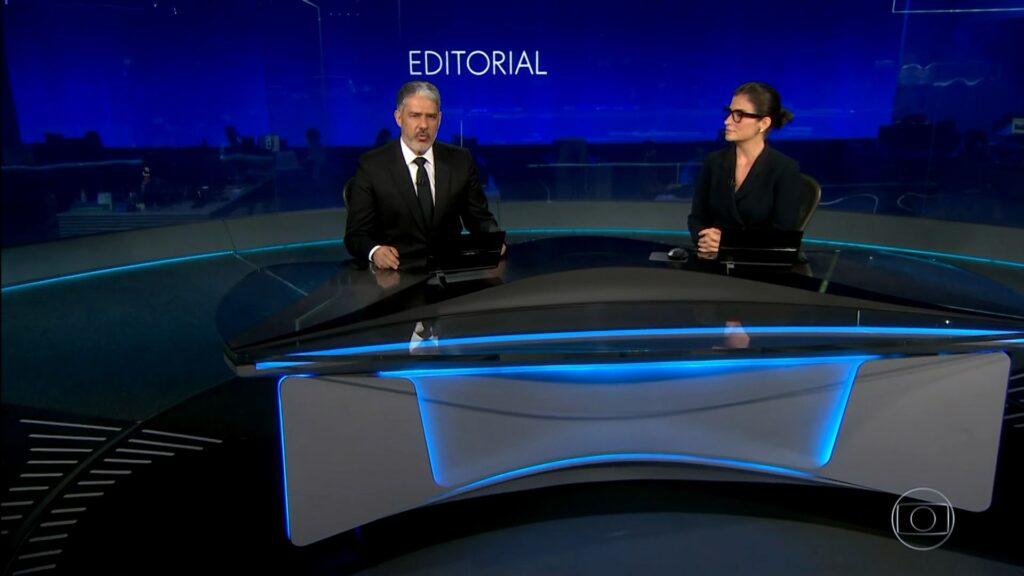 Jornal Nacional foi exibido com abertura diferente neste sábado (19) (foto: Globo/Reprodução)