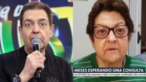 Telespectadores ficaram impressionados com semelhança de idosa com Faustão (foto: Reprodução)