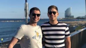 Pedro Figueiredo e Erick Rianelli são repórteres da Globo no Rio de Janeiro (foto: Reprodução/Instagram)