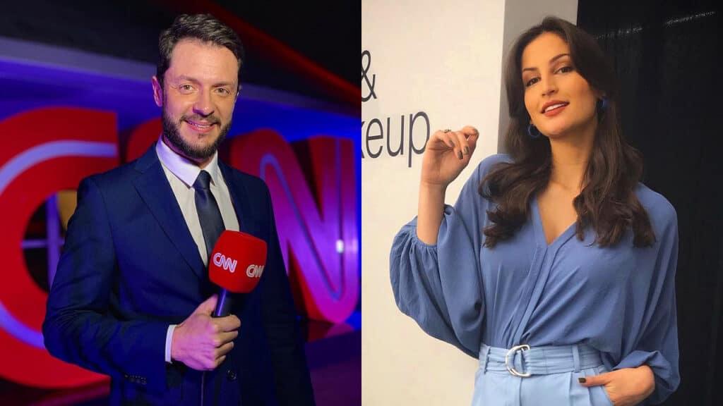 Renan Fiuza e Iara Oliveira não estavam em horário de trabalho na CNN Brasil (foto: Reprodução)