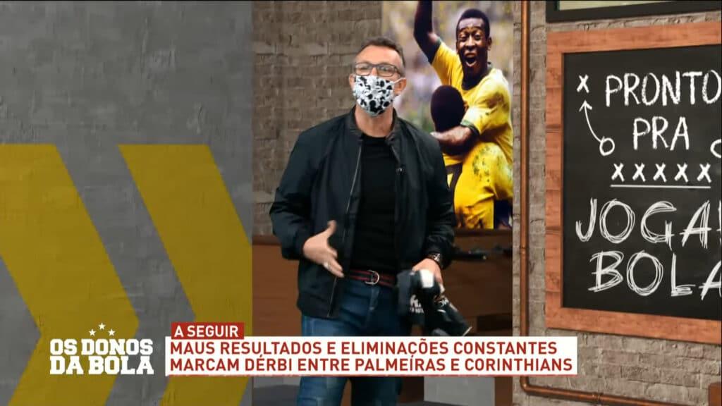 Craque Neto ficou revoltado após presidente fazer pouco caso da máscara de proteção (foto: Band/Reprodução)