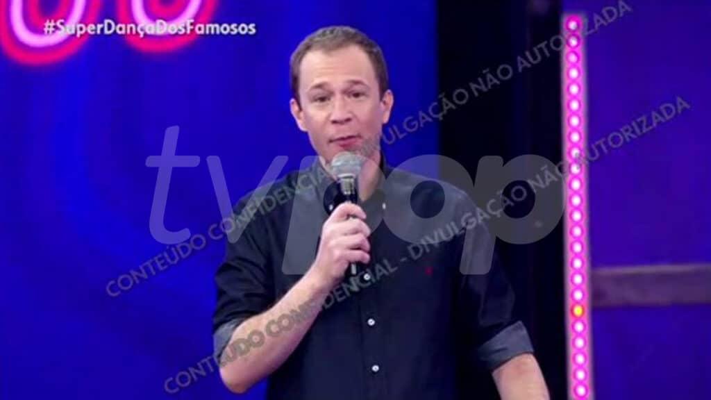 O primeiro dia de gravações de Tiago Leifert nos domingos da Globo (foto: Globo)