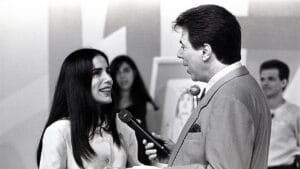 Gloria Pires no programa Topa Tudo por Dinheiro com Silvio Santos (foto: SBT/Divulgação)