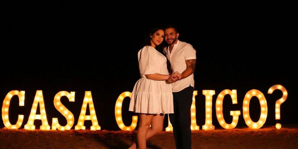 Emily Garcia e Babal Guimarães, irmão do marido de Carlinhos Maia, vão se casar (foto: Reprodução)