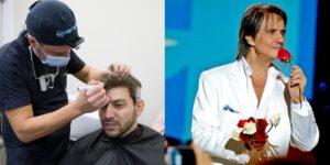 Caio Afiune e Roberto Carlos são pacientes do cirurgião Thiago Bianco (fotos: Reprodução)