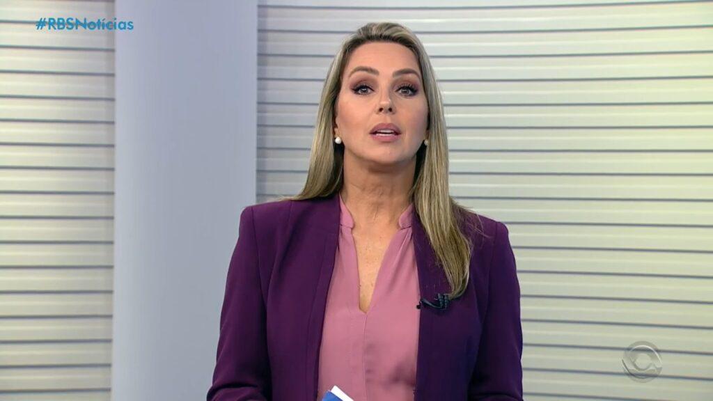 Carla Fachim pediu demissão de afiliada da Globo após 25 anos (foto: Reprodução/RBS TV)