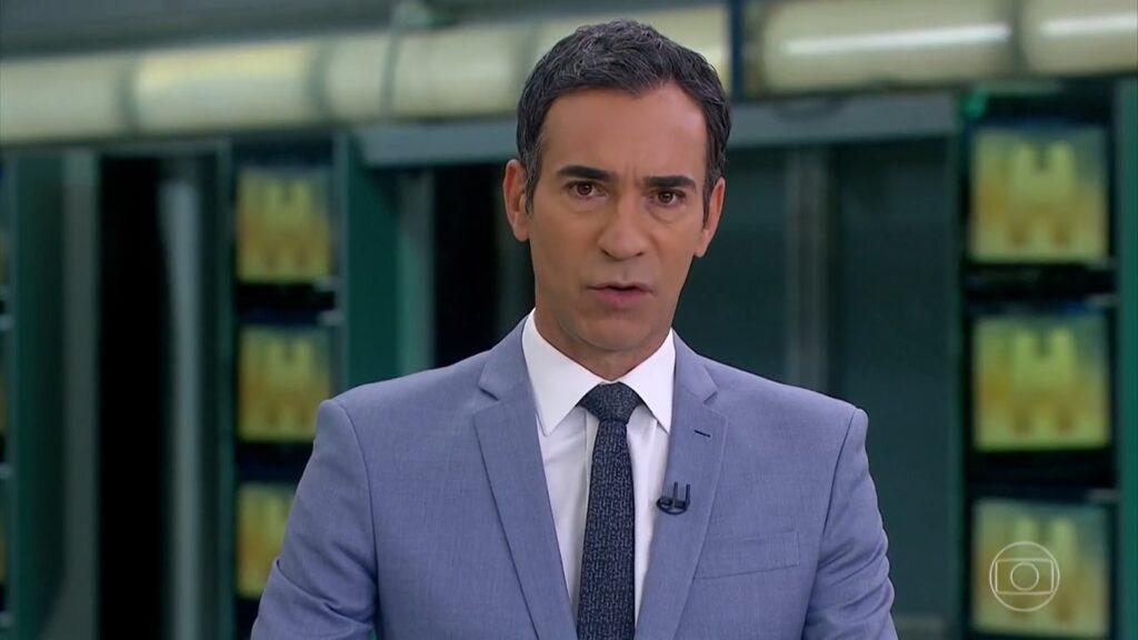 Sob o comando de César Tralli, Jornal Hoje foi ultrapassado pela Record (foto: Reprodução/TV Globo)