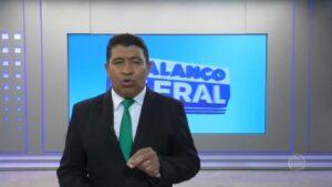 Chico Tello apresentava o Balanço Geral em Nova Mutum, no interior do Mato Grosso (foto: Reprodução/Record)