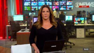 Vídeo vazado de Christiane Pelajo deixou diretores da Globo de cabelo em pé (foto: Reprodução/GloboNews)