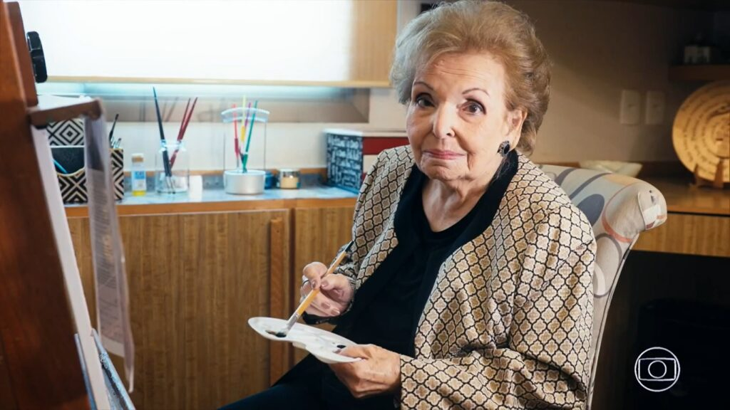 Cordélia Moraes Corrêa Silva, mãe do apresentador Faustão, morreu aos 95 anos (foto: Reprodução/TV Globo)