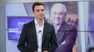 Diego Esteves, filho de Marcelo Rezende, virou fofoqueiro na televisão argentina (foto: Divulgação/Record)