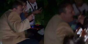 Alterado, Erick Jacquin foi flagrado em balada no interior de São Paulo (foto: Reprodução)