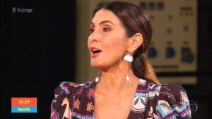 Fátima Bernardes foi a convidada do Se Joga de 26 de junho (foto: Reprodução/TV Globo)