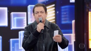 Faustão em seu último programa na Globo: apresentador deve passar 2021 fora do ar (foto: Reprodução/TV Globo)