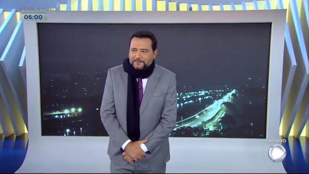 Geraldo Luís está com os dias contados no Balanço Geral Manhã (foto: Reprodução/Record)