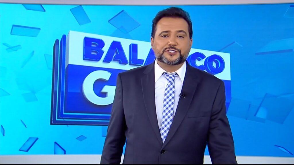 Geraldo Luís na chamada do Balanço Geral Manhã de 15 de junho: má vontade nas gravações (foto: Reprodução/Record)