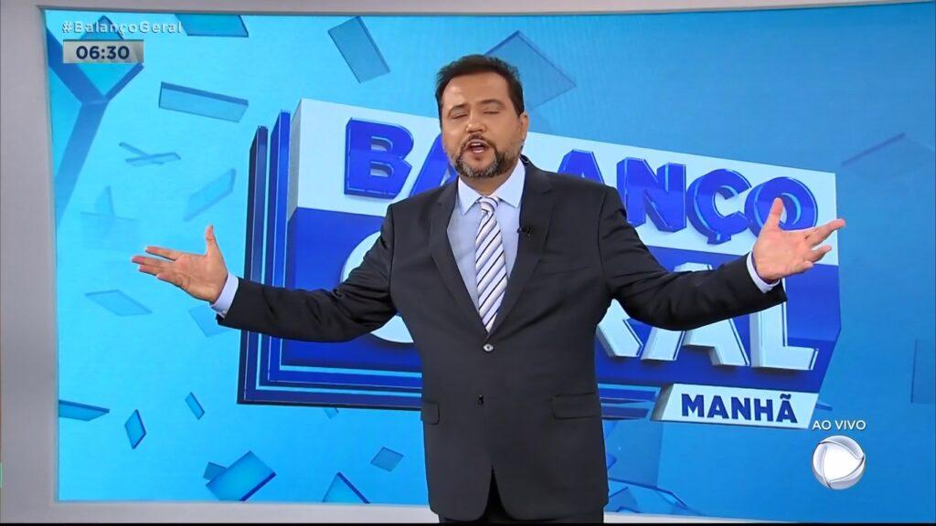 Geraldo Luís postou mensagens enigmáticas sobre a baixa audiência do Balanço Geral Manhã (foto: Reprodução/Record)
