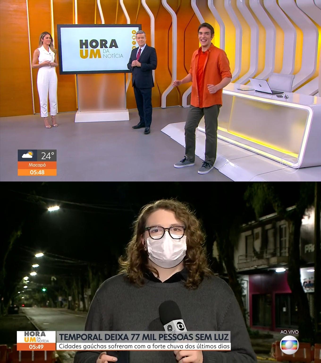 Hora 1 ganhou novo pacote gráfico, com mais informações na tela (foto: Reprodução/TV Globo)