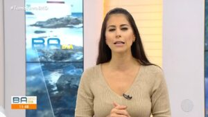 Jéssica Senra pediu para se afastar da apresentação do Bahia Meio-Dia (foto: Reprodução/TV Bahia)