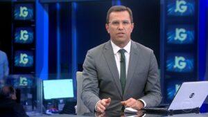 Rodrigo Bocardi apresentou o Jornal da Globo de 24 de junho: telejornal perdeu para o SBT (foto: Reprodução/TV Globo)