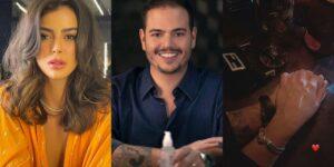 Mari Saad publicou foto de jantar e internautas apontam que a mão é de Guilherme Priante (foto: Reprodução)