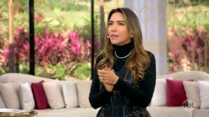 Patricia Abravanel no Vem Pra Cá de 14 de junho: SBT copiou identidade visual de programa da Globo (foto: Reprodução/SBT)