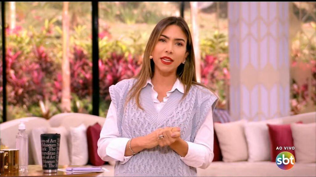Patricia Abravanel no Vem Pra Cá de 28 de junho: programa bateu recorde de audiência (foto: Reprodução/SBT)
