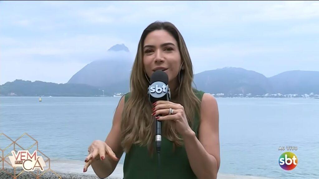 Patricia Abravanel não apresentou o Vem Pra Cá para gravar reportagem no Rio de Janeiro (foto: Reprodução/SBT)