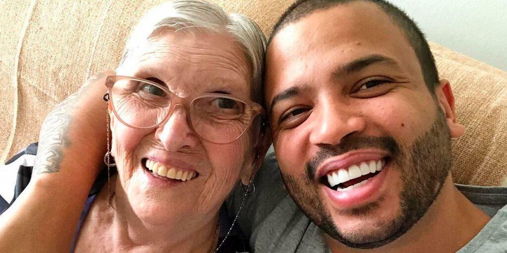 Projota fez texto emocionante para se despedir de dona Lourdes, sua avó (foto: Reprodução)