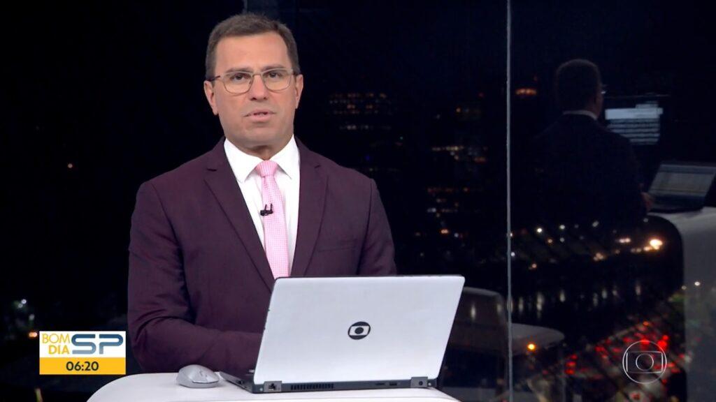 Rodrigo Bocardi no Bom Dia São Paulo: telejornal vai para as madrugadas durante os Jogos Olímpicos (foto: Reprodução/TV Globo)