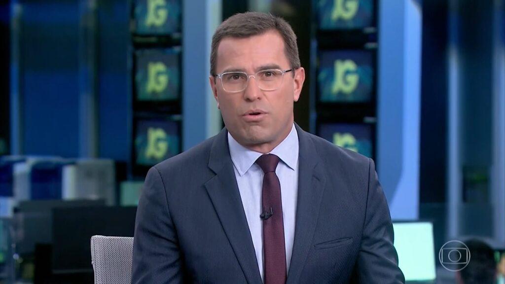Rodrigo Bocardi deixou a bancada do Bom Dia São Paulo para cobrir ausência de Renata Lo Prete (foto: Reprodução/TV Globo)