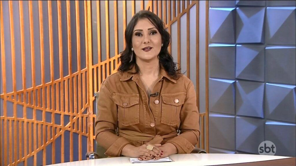 Roseann Kennedy na derradeira edição do Poder em Foco, transmitida em 30 de junho (foto: Reprodução/SBT)