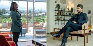 Uzo Aduba e Selton Mello são os protagonistas de In Treatment e Sessão de Terapia (foto: Divulgação/HBO e Globoplay)