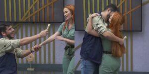 Yugnir aproveitou o Power Couple Brasil para pedir Mirela em casamento (foto: Reprodução/Record)