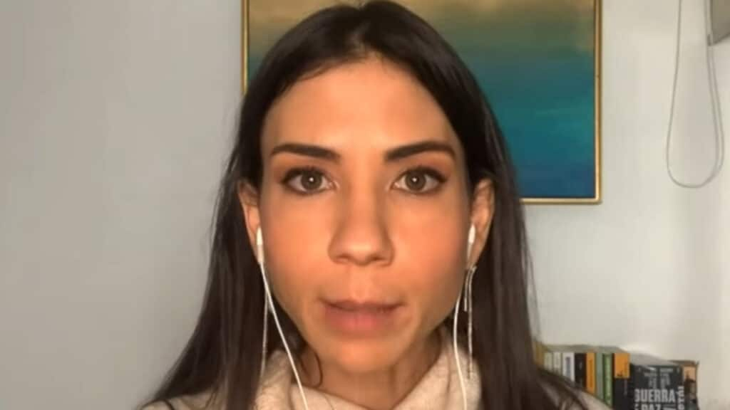 Amanda Klein deixou o programa 3 em 1 após atritos com Rodrigo Constantino (foto: Reprodução/Jovem Pan)
