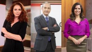 Leilane Neubarh, José Roberto Burnier e Camila Bomfim são os apresentadores do Conexão GloboNews (foto: Globo/João Cotta/Mauricio Fidalgo/Lincoln Iff)