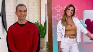 Fabrício Battaglini e Talitha Morete vão apresentar o Mais Você até a volta de Ana Maria Braga (foto: Reprodução/Globo/Instagram)