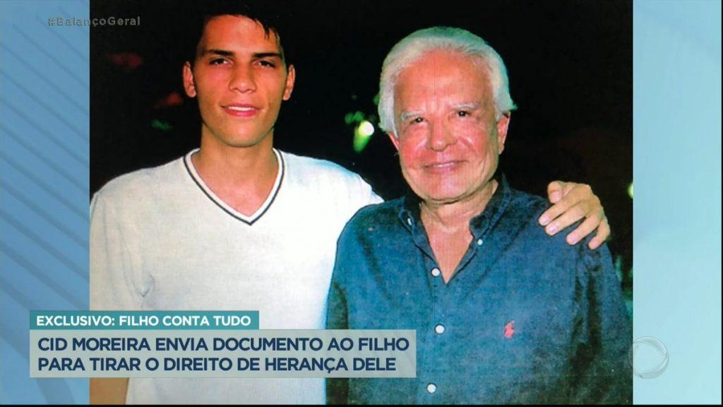 Filho adotivo de Cid Moreira foi deserdado (foto: Reprodução/Record)