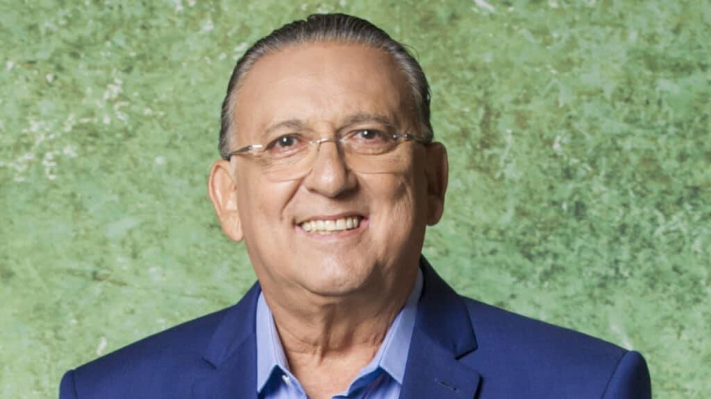 Galvão Bueno teve suas contas bloqueadas pela Justiça por conta de dívida milionária (foto: Globo/João Cotta)