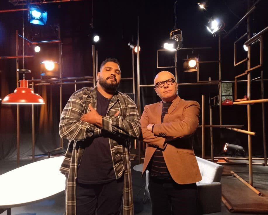 Paulo Vieira e Marcelo Tas (foto: TV Cultura/Julia Rugai)
