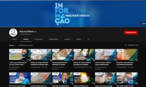 Canal da Record News no YouTube atingiu 2 milhões de inscritos (foto: Reprodução)