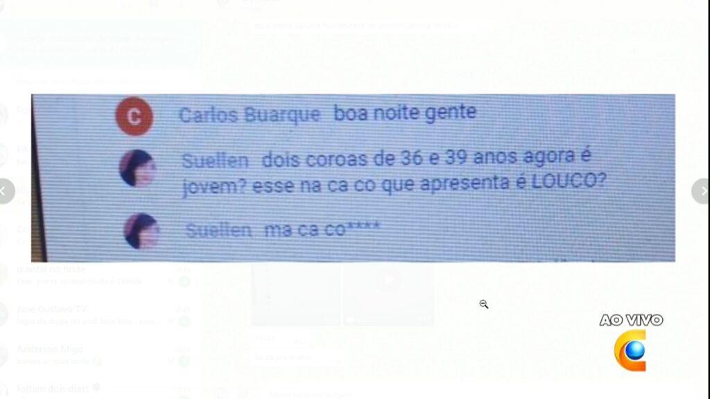 Evenilson Santana recebeu mensagem racista durante o Cidade Alerta Pernambuco (foto: Reprodução/TV Clube)
