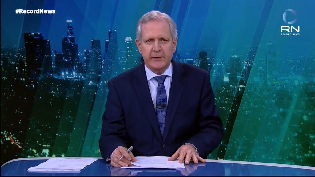 Augusto Nunes apresentou apenas duas edições do JR News (foto: Reprodução/Record News)