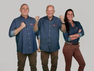 Álvaro José, Elia Junior e Glenda Kozlowski estão na linha de frente da transmissão do BandSports (foto: Divulgação)