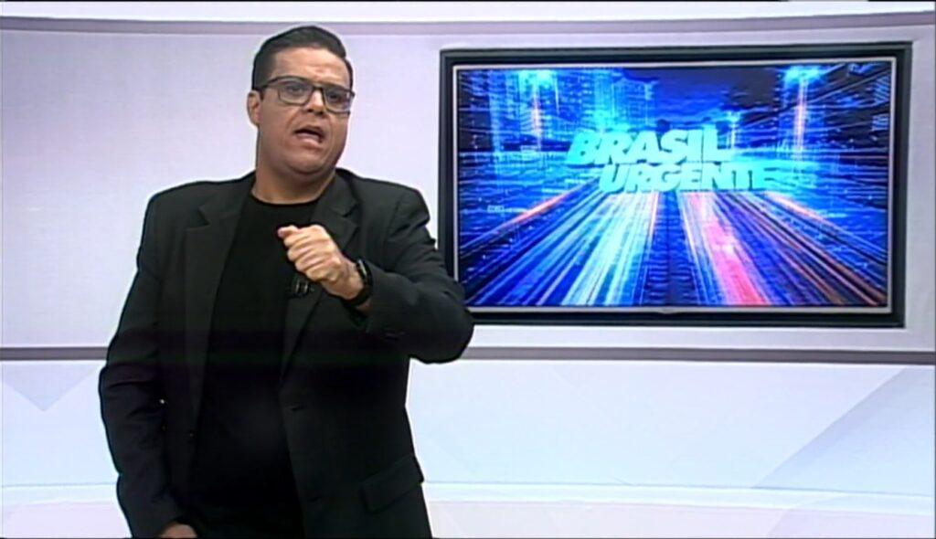 Cacá Barbosa teve ataque de fúria durante o Brasil Urgente Paraíba (foto: Reprodução/TV Manaíra)